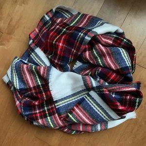 ASOS Red Plaid Blanket Scarf
